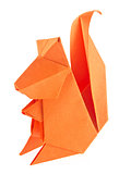 Orange squirrel of origami.