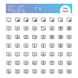 TV Line Icons Set