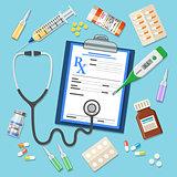 Set medicinal icons