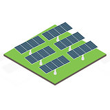 Icon isometric solar panel.