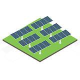 Icon isometric solar panel.