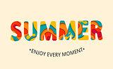 Summer card Enjoy every moment.