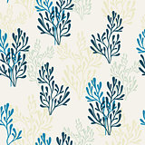 Seamless pattern with flora element.