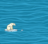 Polar bear and pollution problem.