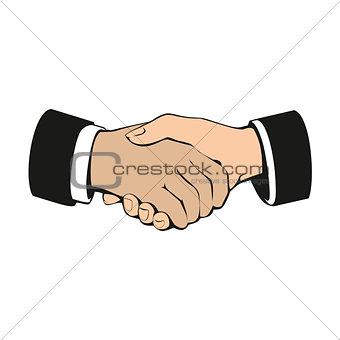 Business handshake, partnership and teamwork