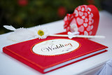 Red wedding guess book