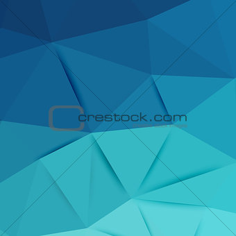Abstract blue graphic art
