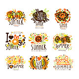 Summer set for label design. Summer travel, sea, beach, holiday, adventure vector Illustrations