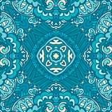 blue damask luxury pattern