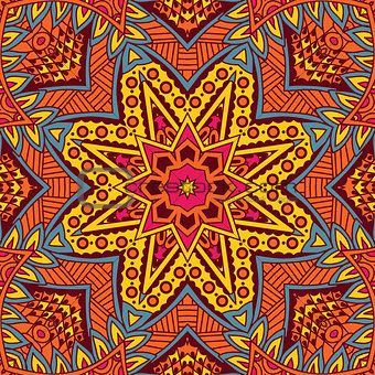 Abstract ornametal vector ethnic tribal pattern