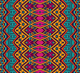 striped geometric ethnic seamless pattern