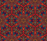 cute laced doodle seamless geometric pattern