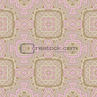 Abstract hand drawn vintage ethnic pattern