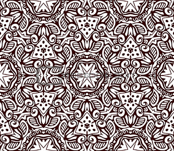 Abstract Tribal indian motif seamless pattern
