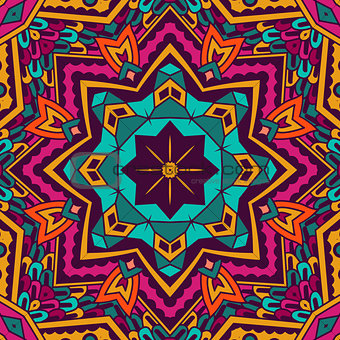 Abstract festive mandala ethnic tribal pattern