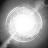 Vector cosmic light effect with trasparency