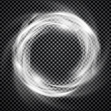 Vector smoke ring light effect with trasparency