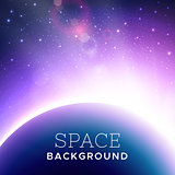 Vector realistic cosmic background