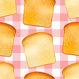Bright tasty toasts, breakfast seamless pattern