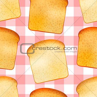 Bright tasty toasts, breakfast seamless pattern