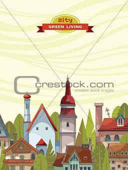 Green city. Urban landscape.