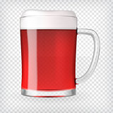 Realistic Mug with Beer