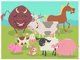 farm animal characters group