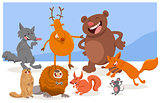 wild cartoon animal characters