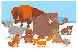 wild animal characters cartoon