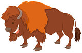 bison cartoon animal character