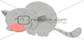 sleeping cat cartoon character