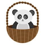 Baby Panda Basket