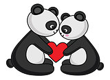 Panda Couple Love