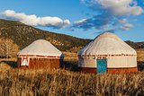 White Yurt - Nomad's tent is the national dwelling of Kazakhstan people