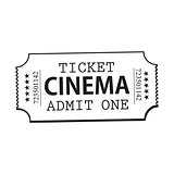 One retro style, vintage cinema, movie ticket
