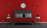 Black and red classic bedroom