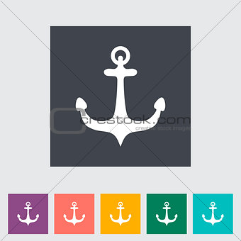 Anchor single flat icon.