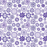 Mauve seamless background with stylized flowers
