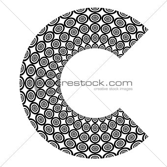 Abstract design element. Letter C.