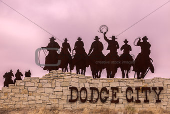 Dodge City welcome sign