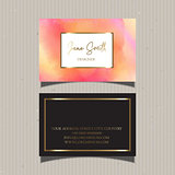 Decorative watercolour business card design