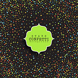 Stars confetti background