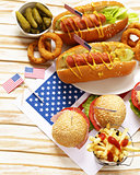 Traditional food for the celebration of July 4 - Independence Day of America