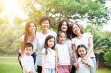 Group of Asian multi generations family