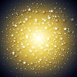 Dark yellow stars abstract vector background