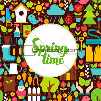 Flat Spring Time Greeting