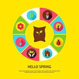 Hello Spring Concept