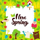 I Love Spring Paper Concept