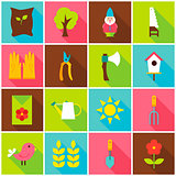 Spring Garden Colorful Icons