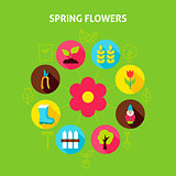 Spring Flowers Concept